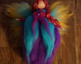Waldorf, fairies, elves, elven Ivette, wool