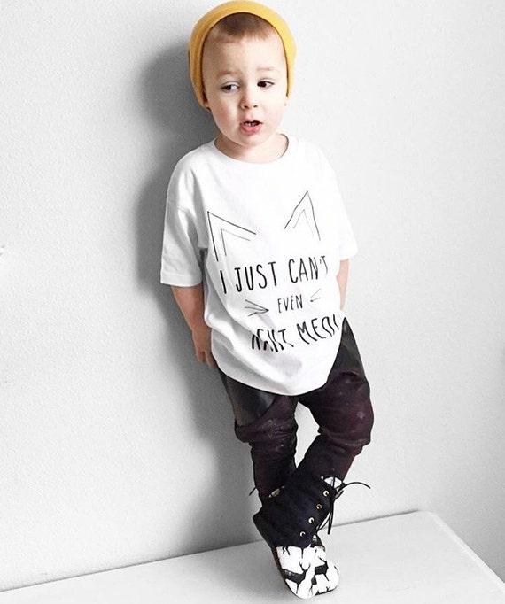 Cat Shirt Kitten Shirt Hipster Kids Clothes Toddler Shirts