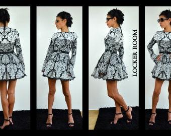 Mini Dress / Party Dress /Long sleeves dress /Loose dress /Summer dress /Short dress/Cute dress