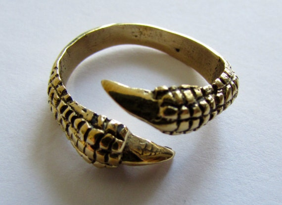 Claw Ring Brass, Adjustable, Handmade, Tribal Jewellery Gift Boxed + Gift Bag , Free UK Delivery