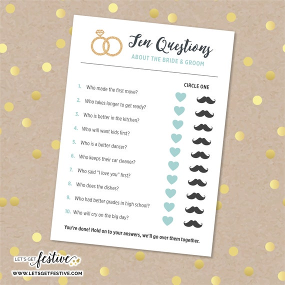 Ten Questions About The Bride & Groom Bridal By LetsGetFestive