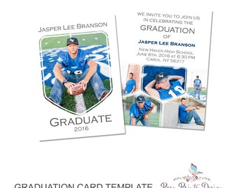 Graduation Announcement Template - 5x7 Digital Photography Photoshop Files - Template for Photographers - GC13 - DOWNLOAD or PRINTABLE