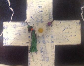 Decorative Wooden Boho Cross