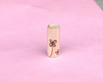 It starts with selflove - I wish me all the best! - wooden dreadlock bead, handmade with love