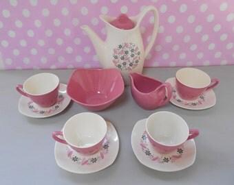 "Vintage Midwinter ""Marguerite"" Coffee Set for Four 1958"