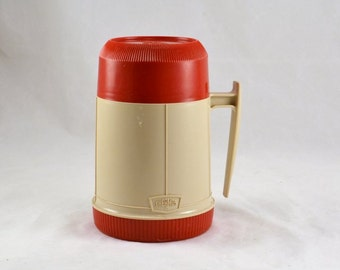Vintage Thermos Soup Container - 10 Ounce - Glass Insert - Made in USA - Picnic Ready