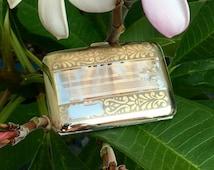 Vintage Ladies Cigarette Case Gold Filled E.A.M. Elgin American