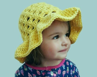 Lazy Daisy Floppy Sun Hat Infant-Child *PDF FILE ONLY* Instant Dowload