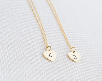 Gold Heart Initial Necklace, Initial Necklace , Heart Necklace, Personalised Jewellery, Gold Plated Necklace
