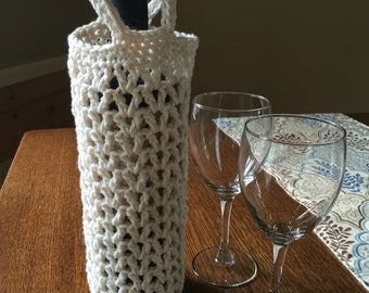 Crocheted Wine Tote
