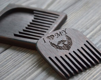personalized beard comb custom engraved gift for men him. Black Bedroom Furniture Sets. Home Design Ideas