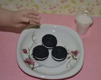 "3 Oreo cookies for 18"" dolls such as American Girl and My Generation"