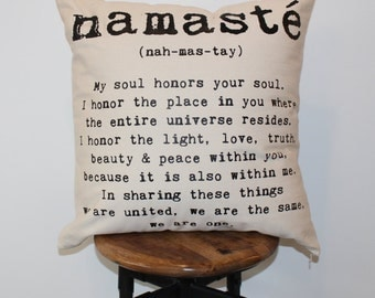 Namaste Decorative Pillow Cover