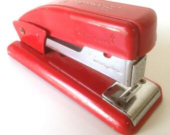 Retro Industrial  Swingline 99 Stapler Red