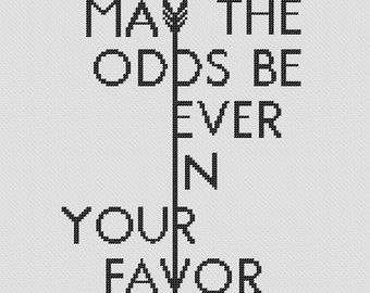 May the Odds Cross Stitch Pattern