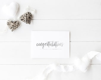 Silver Foil 'Congratulations Greeting Card