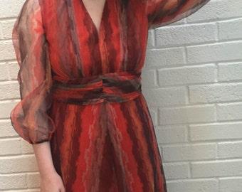 Vintage 1970's maxi dress. UK size 10-12