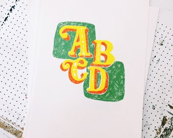ABCD   A3 Screen Print