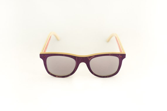 skateboard recycled sunglasses BUMP shape ! Purple grey mirror color #madeinfrance