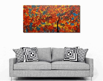 Original Oil Painting, Abstract Art, Love Birds Painting, Canvas Art, Canvas Painting, Oil Painting, Wall Art, Abstract Painting, Large Art