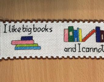 Cross Stitch bookmark pattern - I like big books
