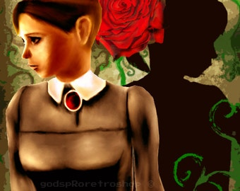 Shadow Jennifer Mixed Media Artwork by godspRosyko - Rule of Rose