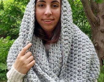 Infinity crocheted scarf/ Milton 2