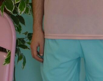 Blue jersey board shorts