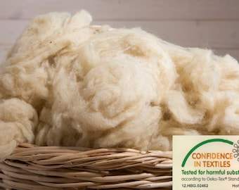 Wool Stuffing / Oeko-Tex Certified / Perfect for filling pillows, cushions, dolls