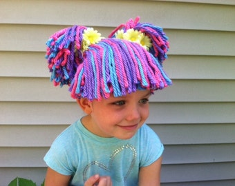 Kids wig, Toddler costume, Childrens cosplay, Pretend play, Dress up, Kids costume, Cabbage patch hat, Cabbage patch kids, Cabbage patch wig