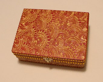 Red and Gold Jewelry Box