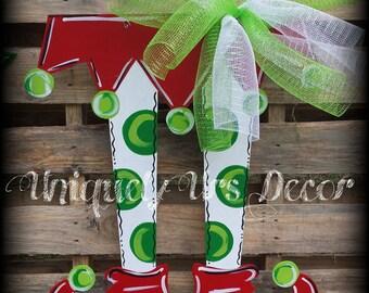 Elf Feet Door Hanger, Christmas Door Hanger, Door Hanger