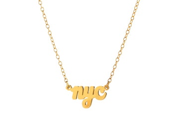 NYC Necklace / New York City Necklace / Sterling Silver / 14k Gold over Silver / Dainty & Delicate Necklace