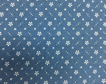 Katherine Ann fabric. blue reproduction quilters cotton quilting RJR 4518