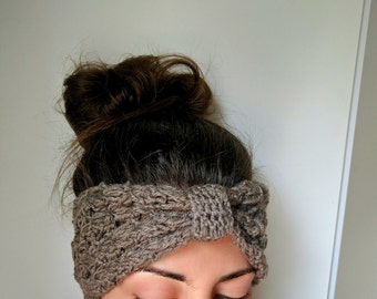 Fall Crochet Headband, Crochet Knot Headband, Crochet Ear Warmer Headband, Womens Knot Headband, Knot Headband Adult, Crochet Fall Accessory