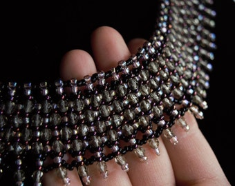 Plum Mascarade Necklace