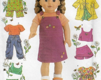 18 Inch Doll Clothes Sewing Pattern, Doll Dress Sewing Pattern, American Girl Doll Dress, Uncut Sewing Pattern, Simplicity 4654