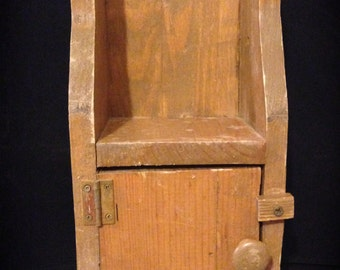 Primitive Cupboard Handmade Wooden Cabinet Small Rustic Cupboard Primitive Kitchen Storage Display Colonial Decor Rustic Farmhouse Cabinet