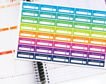 Planner Stickers Erin Condren Life Planner (ECLP) - 40 Appointment Stickers (#6000)