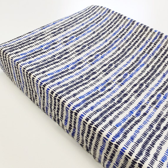 Changing Pad Cover >> Bluebird Rice in Natural >> MADE-to-ORDER stripe changing pad, cobalt navy changing pad, mudcloth changing pad, modern