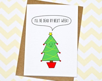Funny Christmas Card - Christmas Tree - Christmas Card - Xmas Card