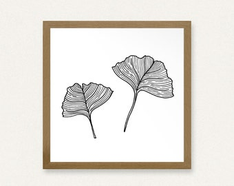 Gingko Leaves - Printable Art (8x8)