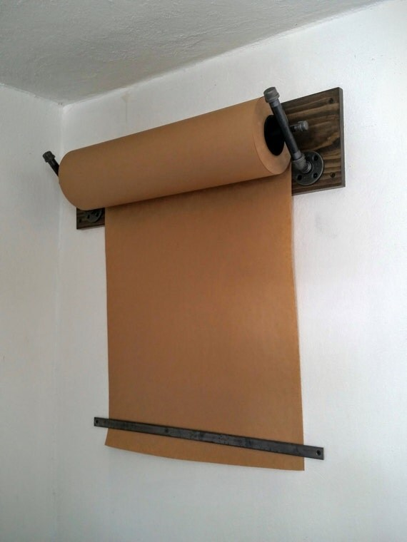 Wall Paper Holder kraft paper dispenser wall mount industrial pipe industrial