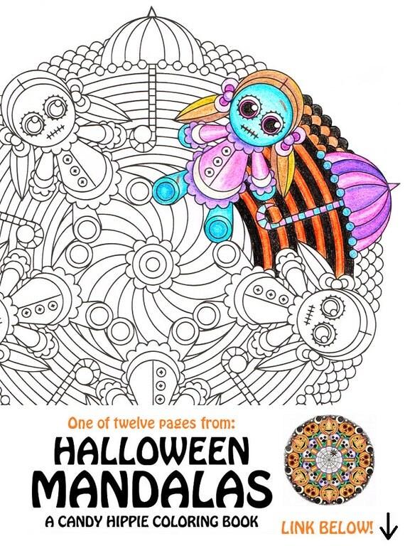 halloween mandala coloring pages