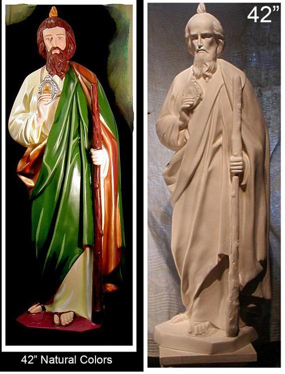 "St. Jude Thaddeus Apostle 42"" Fiberglass Catholic Christian Religious Statue"