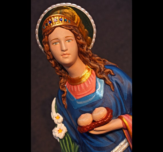 "St. Agatha Patron Saint of Breast Cancer 18"" Catholic Christian Religious Plaster Statue"