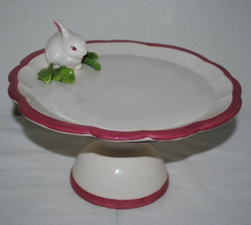 Cake Stand Bunny Cake Stand EASTER Baby And Bridal Shower