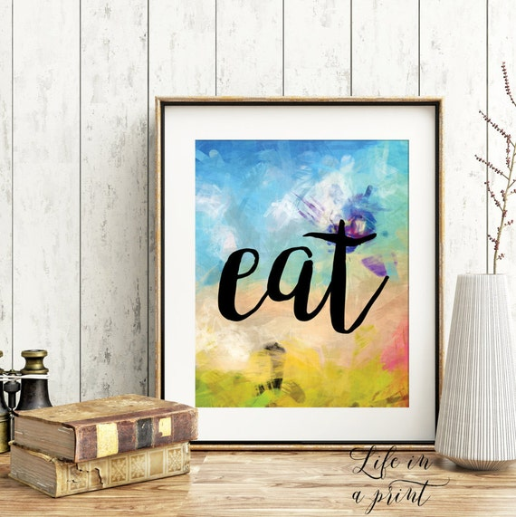 Items similar to printable kitchen decor art kitchen art for Kitchen decor items