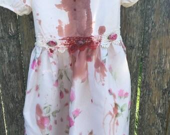 Zombie dress, girls zombie costume, little girl zombie, party dress, girls party dress, girls zombie party dress, girls halloween costume