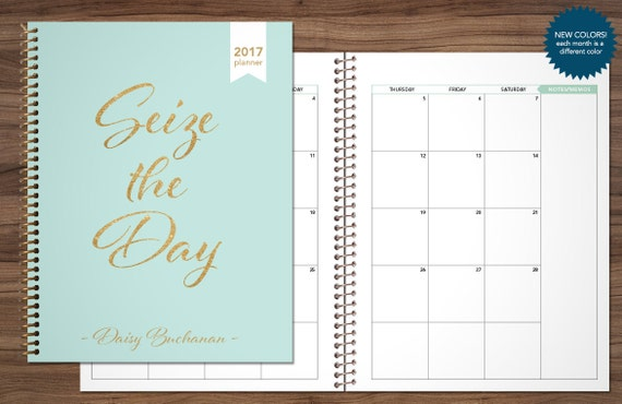 2017 2018 Monthly Planner Custom Planner Month At A Glance